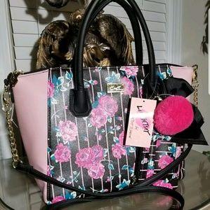 Betsey johnson rosebud giana bag and wallet